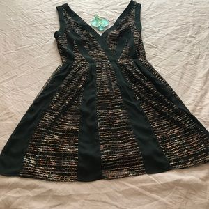 Ark & Co cocktail dress - black with copper detail